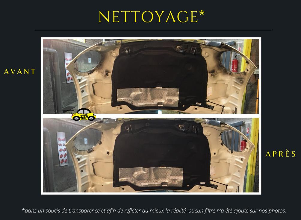 Nettoyage du compartiment moteur