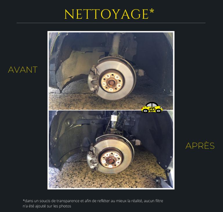 Nettoyage passage de roue