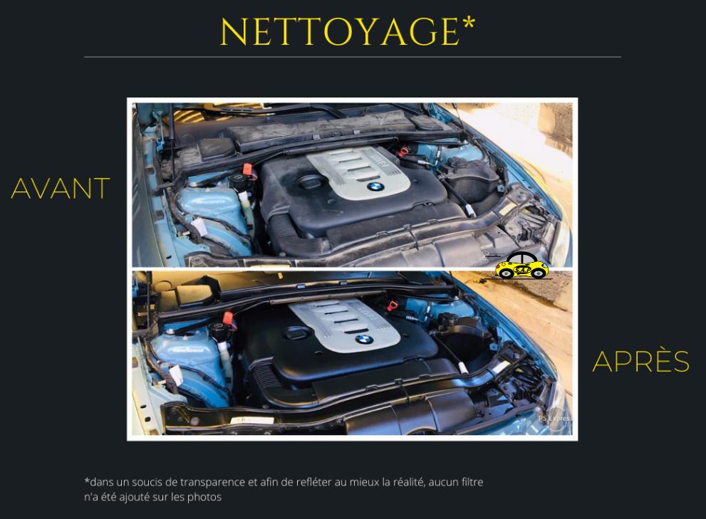 Nettoyage compartiment moteur BMW série 3 e93