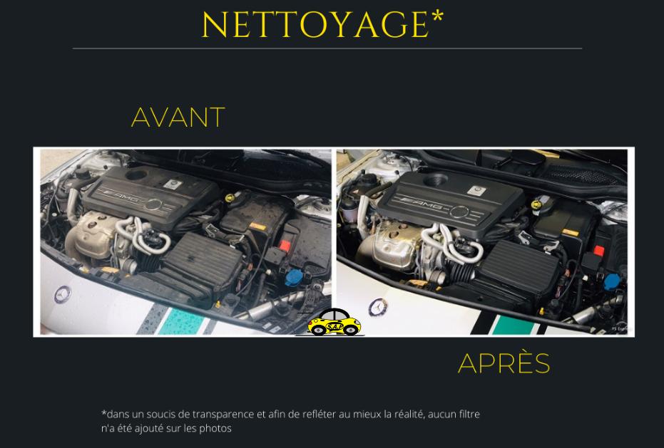 Nettoyage compartiment moteur A 45 AMG