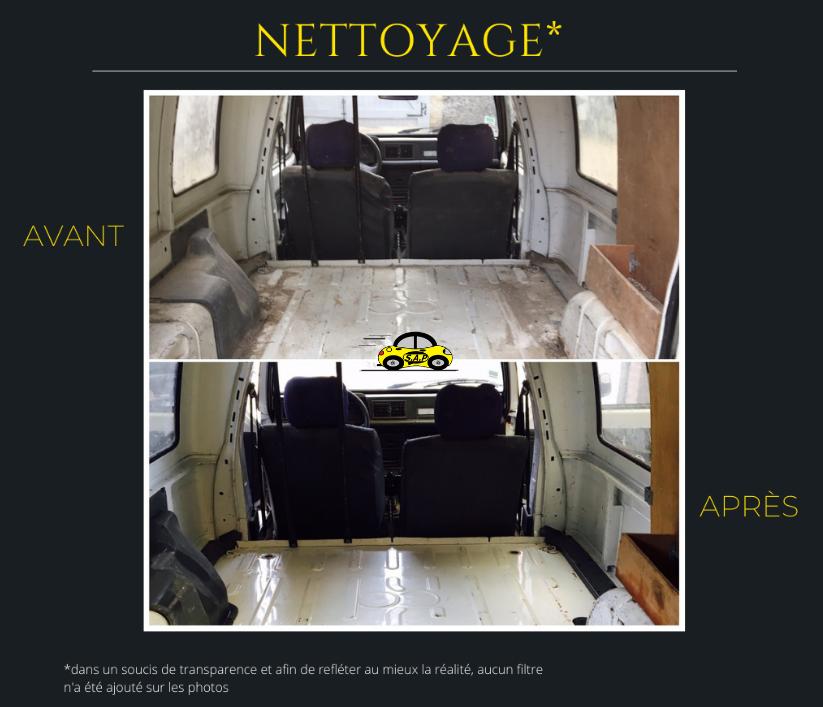 Nettoyage intérieur fourgon